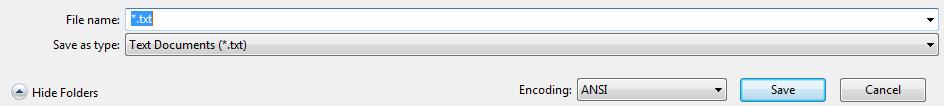 encoding-ANSI