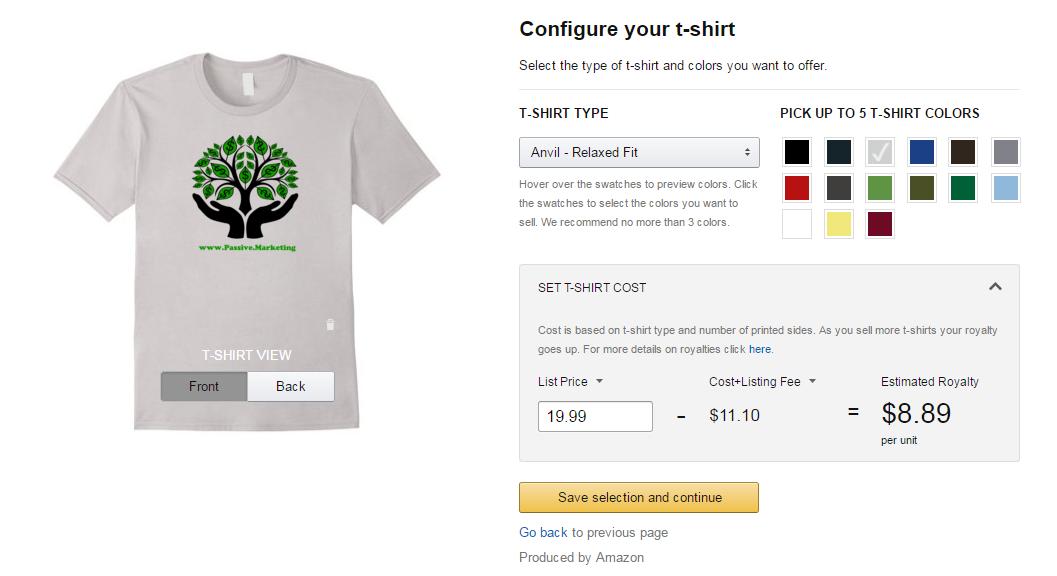 t shirt configure