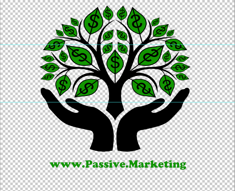 design de T-shirt marketing passif